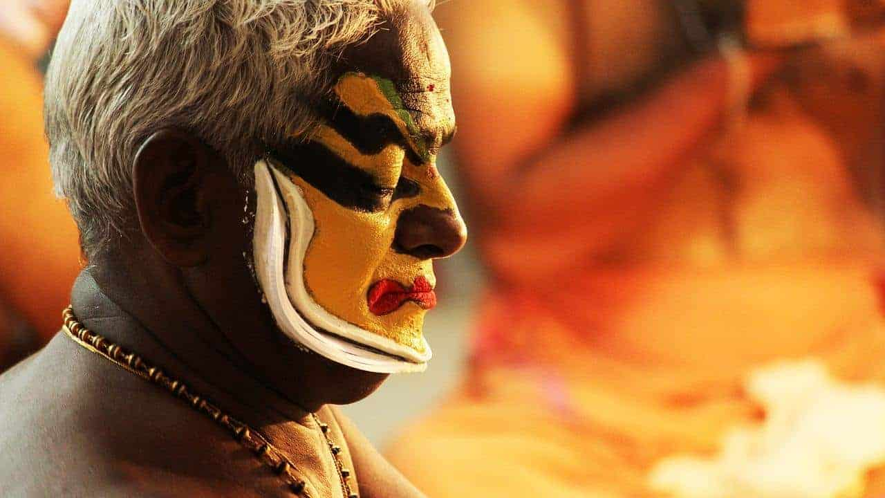 Traditional make up during the Onam festival - Kerala