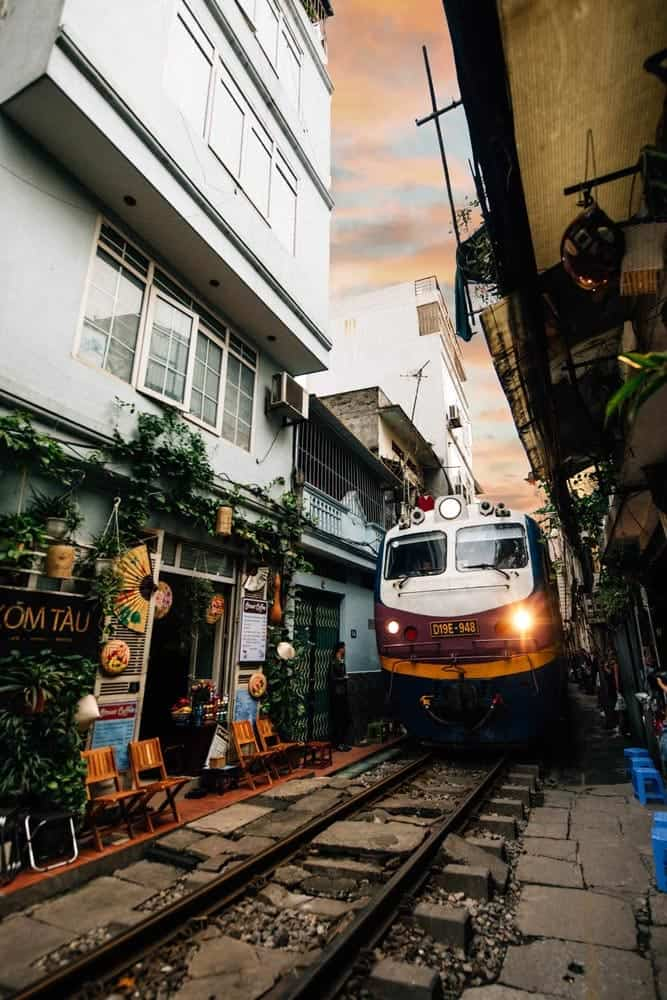 Train Street, Hanoi,Vietnam