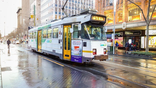 Trams are the best means of public transportation in Melbourne