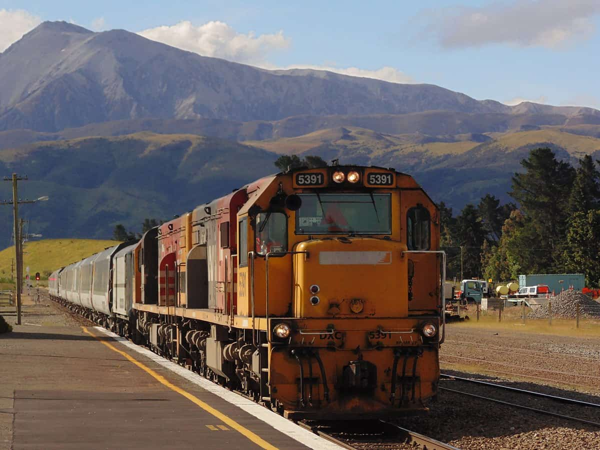 TranzAlpine Train, Christchurch, New Zealand