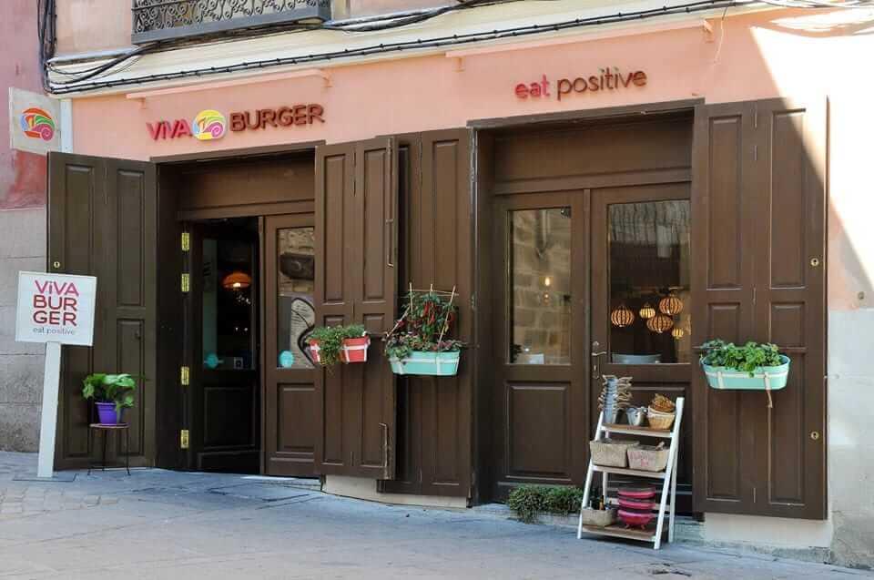 Vegetarian restaurants in Madrid- Viva Burger, Madrid