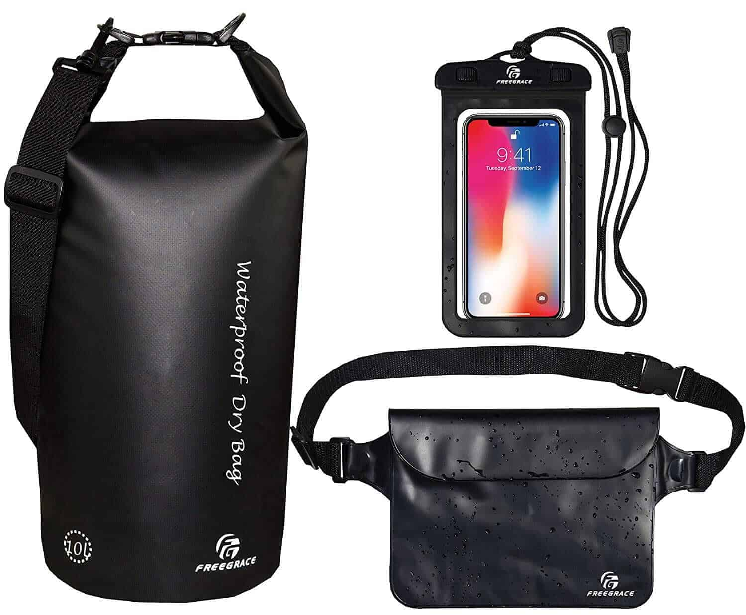 Waterproof dry bag and pouch