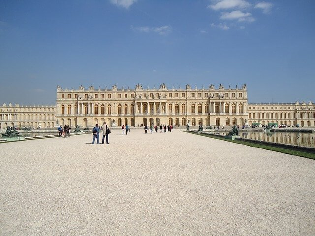 West facing Chateau de Versailles