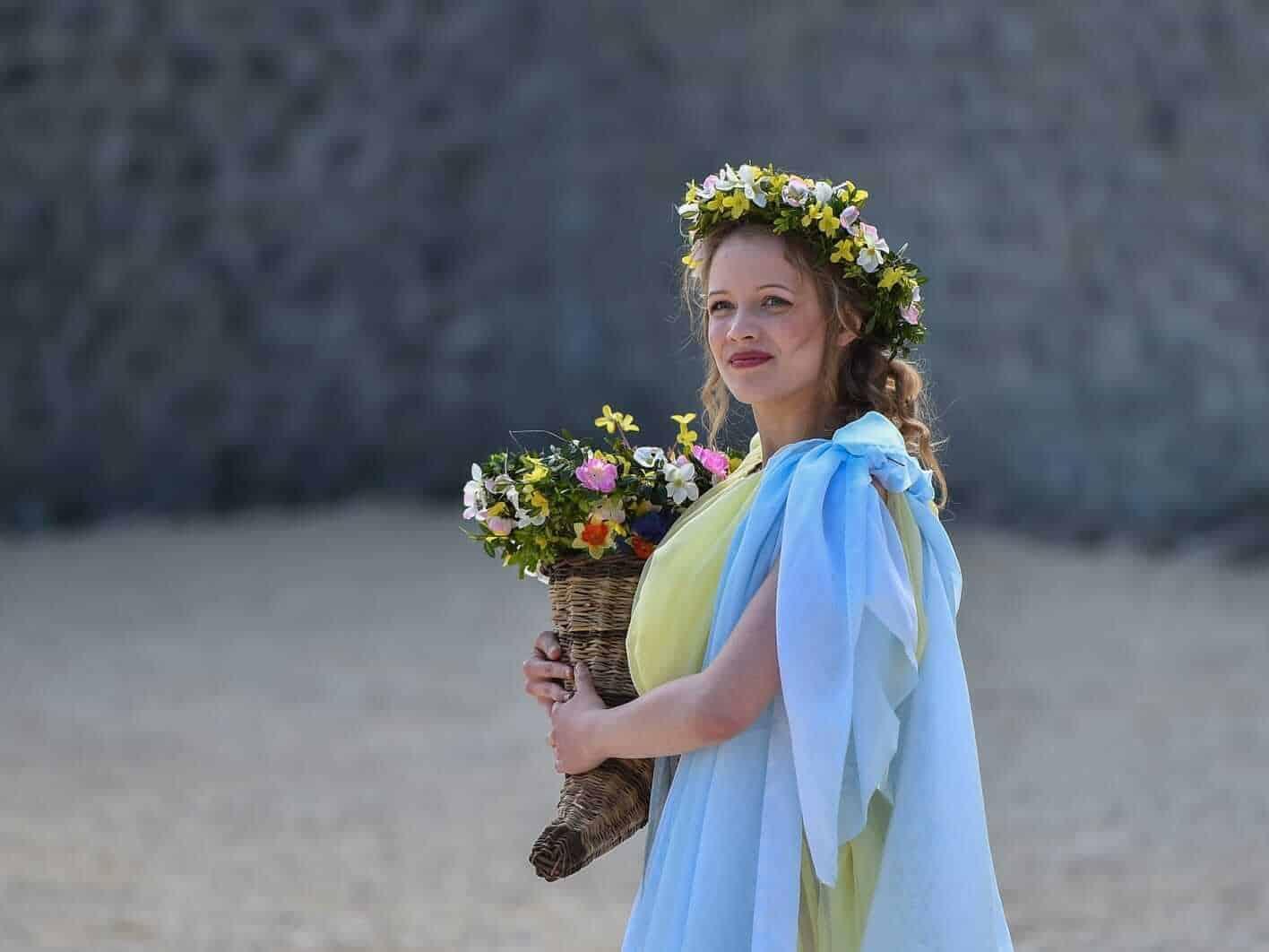 Woman during Floralia Roman Festival