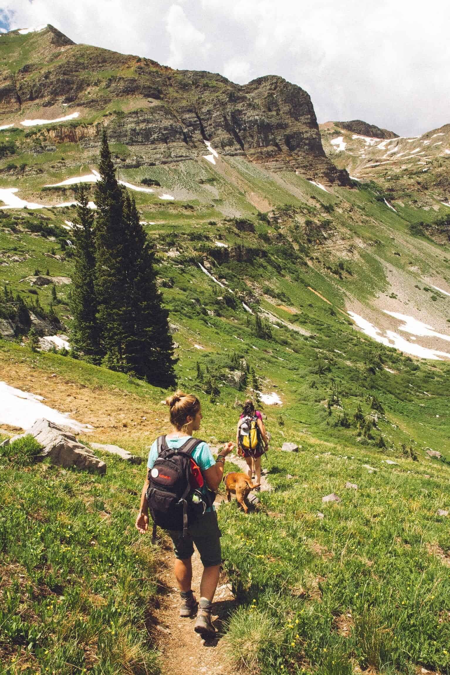 Women hiking outdoors