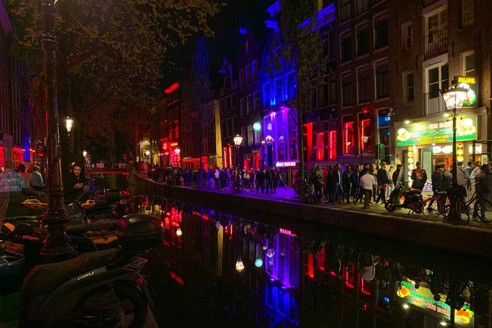 Red Light District Amsterdam smell of a country