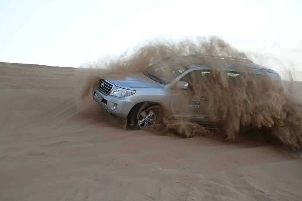 Driving across the dunes in Dubai is a great adventure
