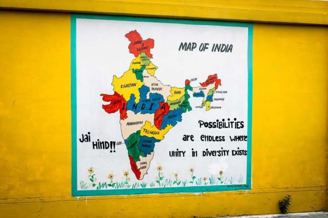 Itineraries in India - Map of India