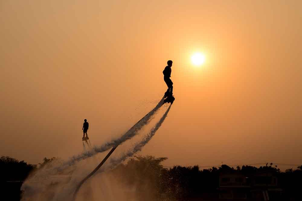 Flyboarding is something you have to try if you're up to adventure in Dubai!