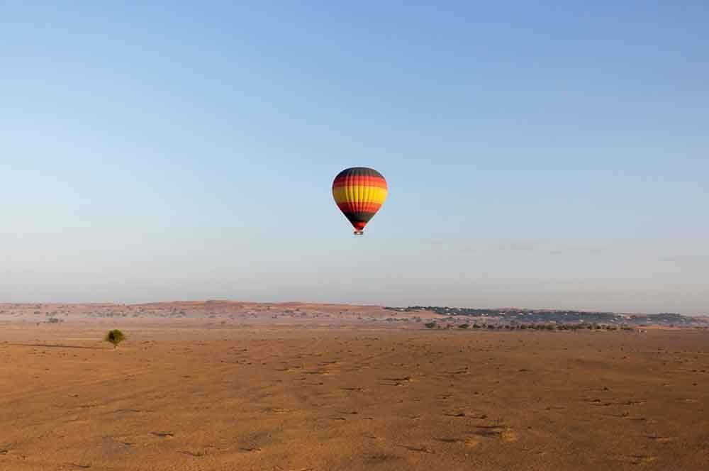 Hot air ballooning across Dubai