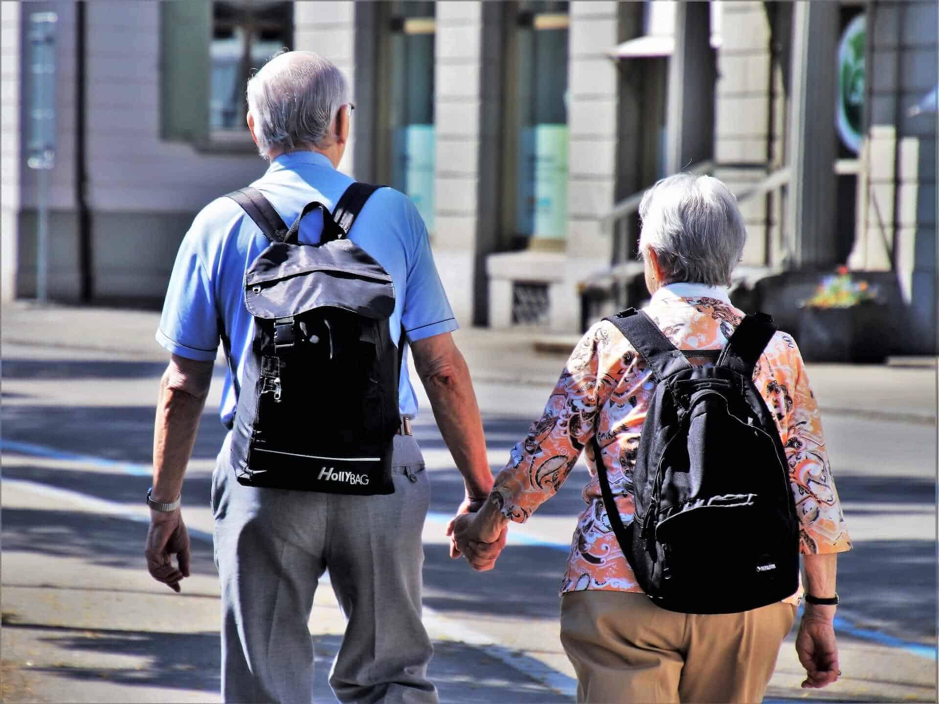 senior people traveling
