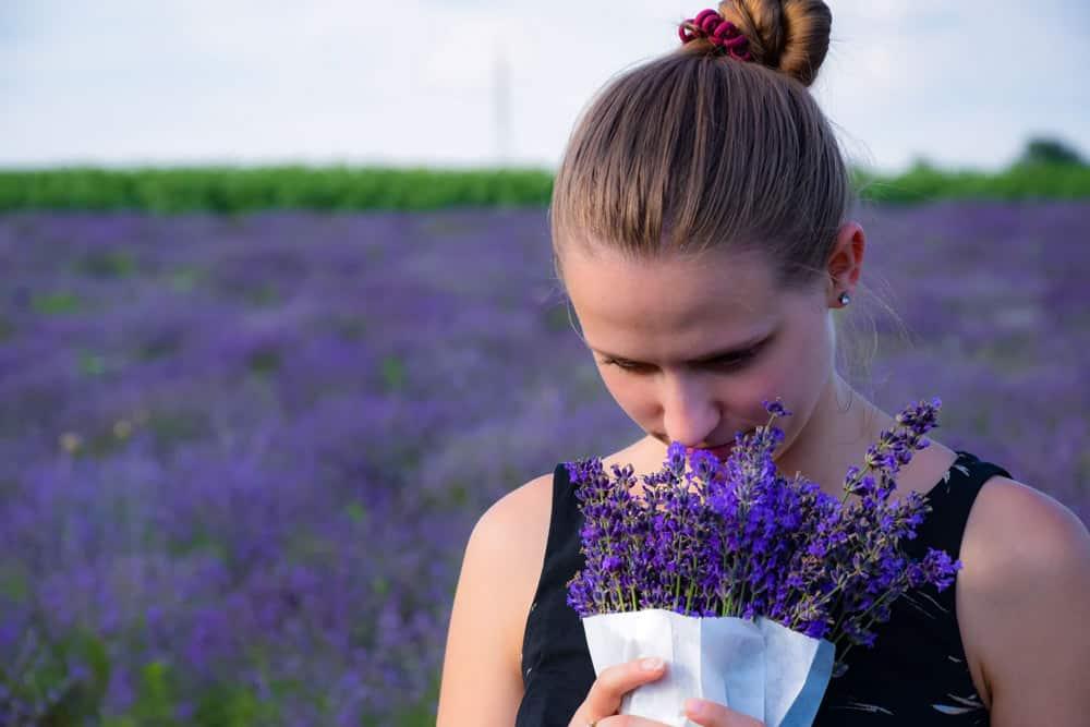 Smelling lavender