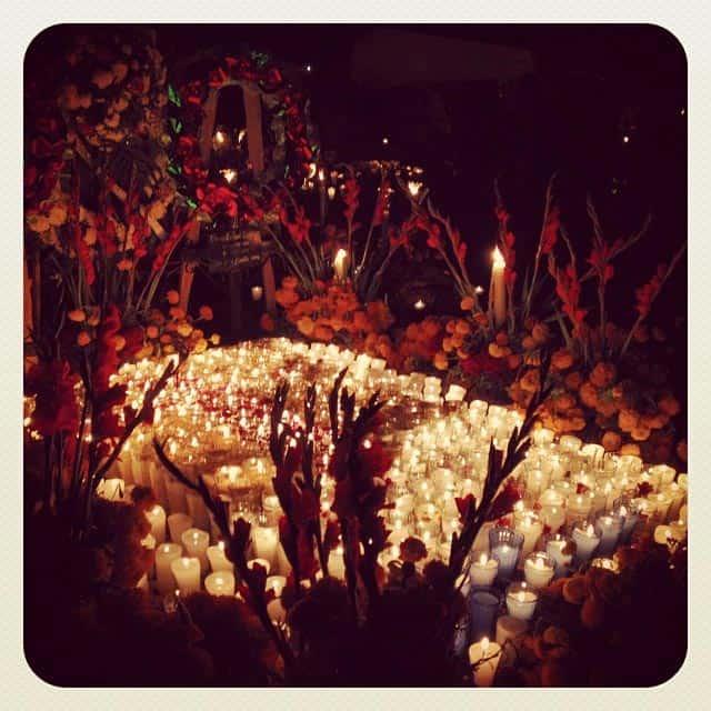 Ofrenda in Tzintzuntzan Día de Muertos