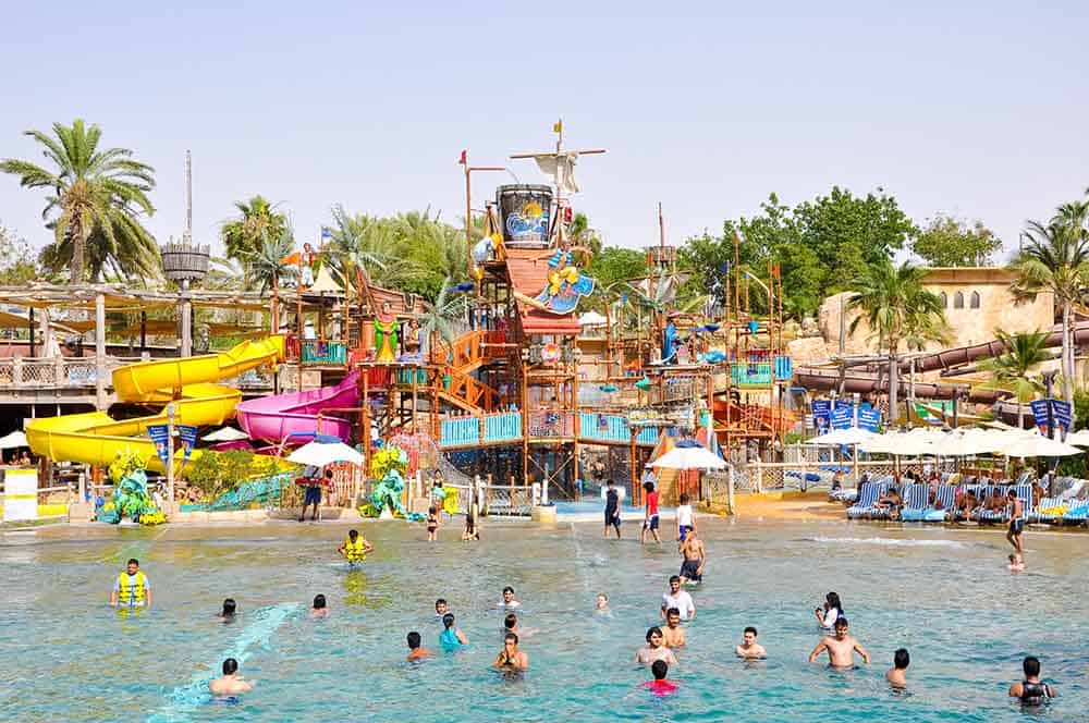 Put on your swimsuits and enjoy a day in the waterpark with the family in Dubai